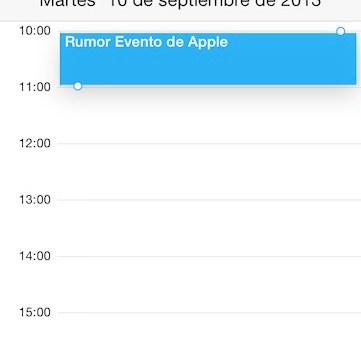 Rumor Evento de Apple
