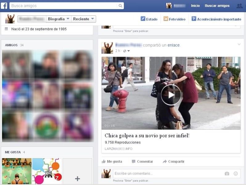 Cuidado con videos en Facebook