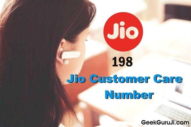 Jio Customer Care Number