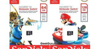Switch Memory cards-geekguruji