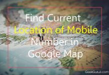 find Current Location of Mobile Number in Google Map