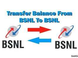how to transfer balance from BSNL to BSNL