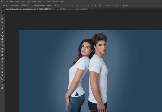 Adobe photoshop background color change method
