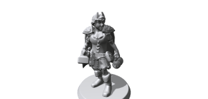 On Hero Forge, I made Ceara - my LARP character!