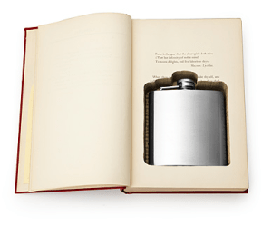 Get the flask book box by Talia Halliday via Uncommon Goods.