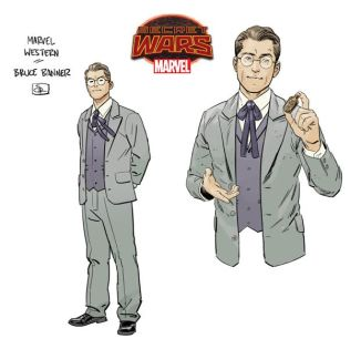 "Bruce Banner in ""1872"" by Evan ""Doc"" Shaner. Marvel Entertainment."