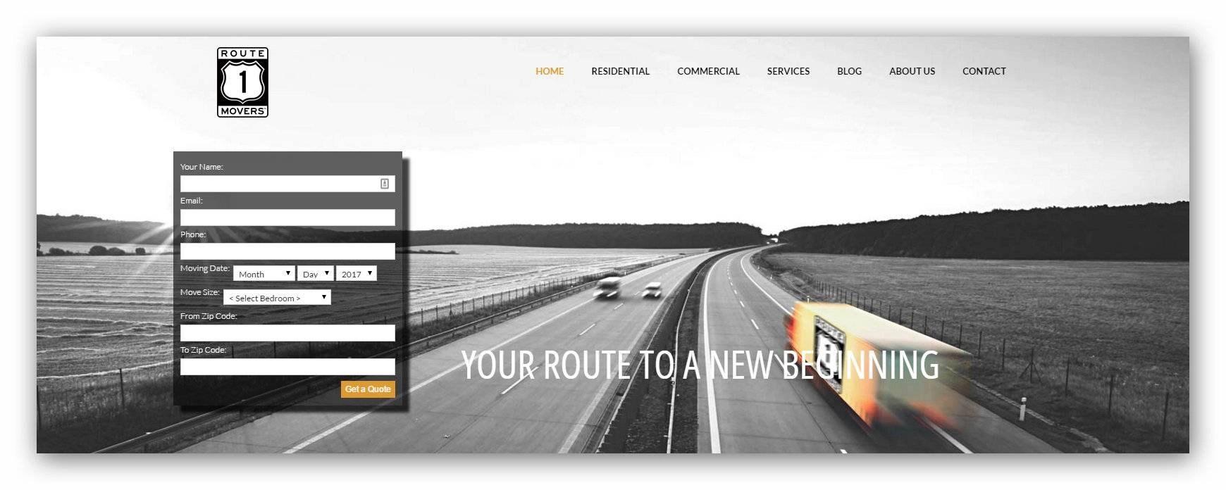 Moving Company Web design