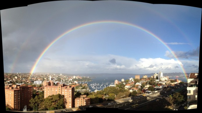Rainbow over the Harbour - Geek in Sydney