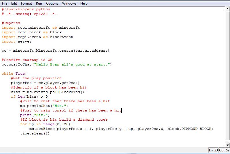 how to set up a python program to execute