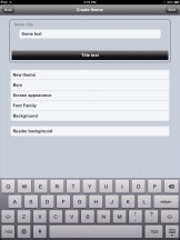 Create Theme uBooks xl iPad
