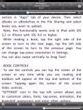 uBooks xl Toolbars on iPad
