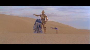 """The Dune Sea - kadr z filmu """"Gwiezdne Wojny: Nowa Nadzieja"""""""