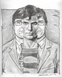 I just love this one! Look at how he just gets the wry smile from Clark Kent along with the stern seriousness of Superman.