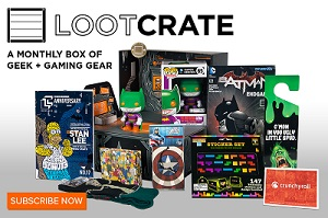 This was the Anniversary theme Loot Crate......pretty.