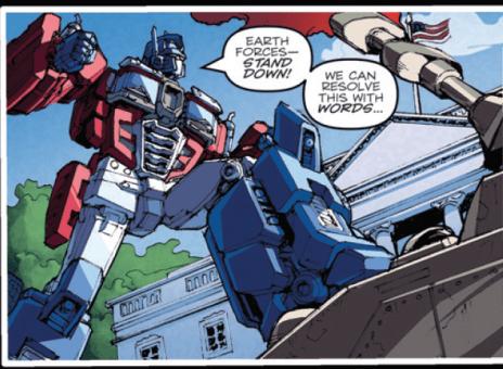 optimus prime stand down