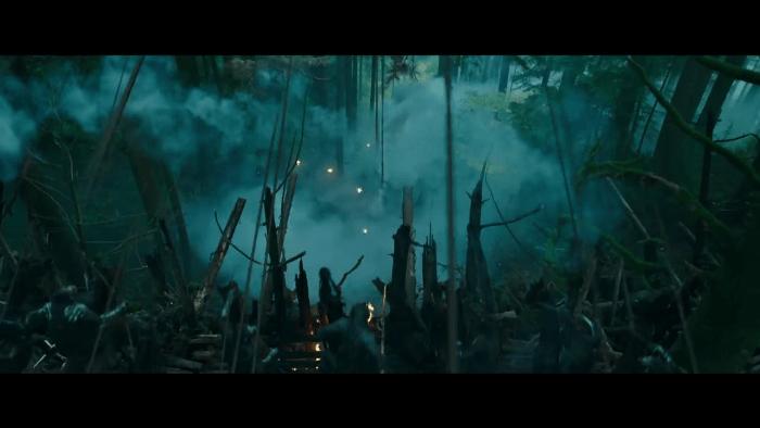 Planet Apes War battle scene