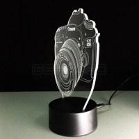 3D Camera Optical Illusion Lamp Night Light