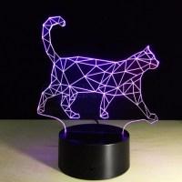 3D Optical Illusion Lamp Night Light BaymaxWalking Cat