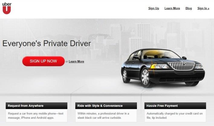 Uber.com en Avril 2011