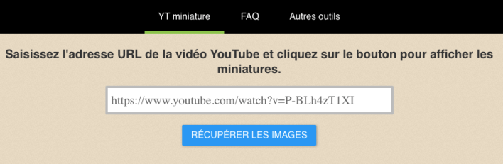 outil miniature video youtube