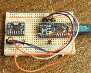 5 Connections are required between the MPU-6050 and Arduino when using i2cdevlib.