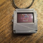 3D Printed necklace case with buttons for TinyScreen