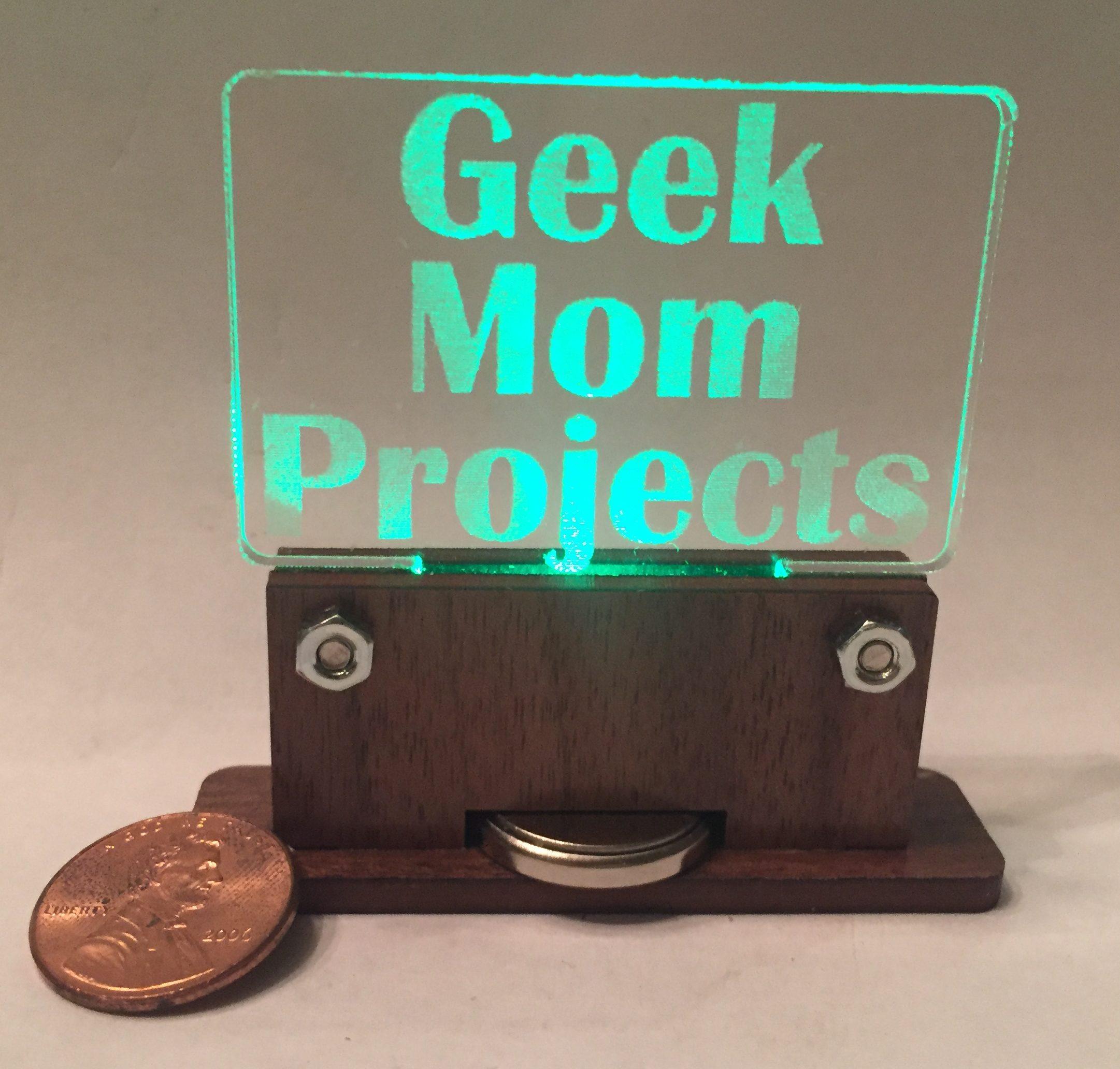 Teeny-Tiny Edge-Lit Display – Geek Mom Projects