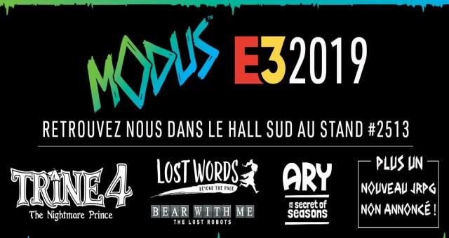 Modus Games – Son Lineup E3 2019 de jeux indépendants