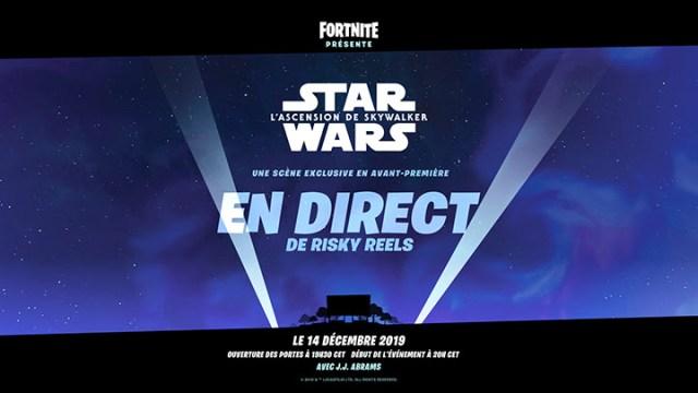 Fortnite – Une scène du prochain film Star Wars sera diffusée en jeu ce weekend !