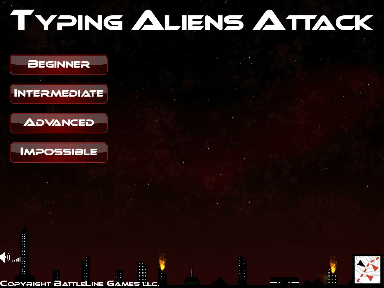 typing aliens attack