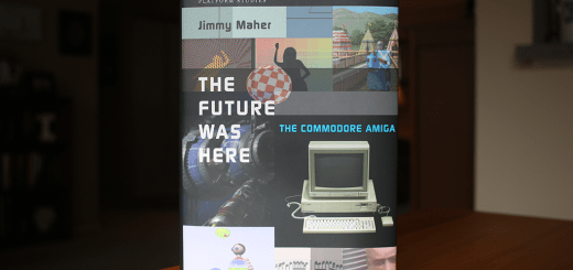 "Hardcover copy of ""The Future Was Here: Commodore Amiga"", by Jimmy Maher."