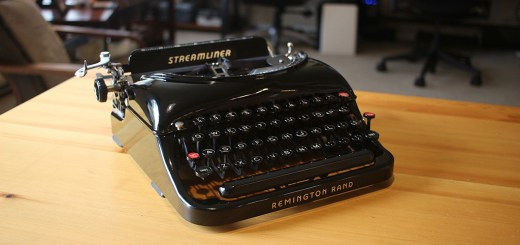 The Streamliner typewriter from Remington Rand, circa 1941.