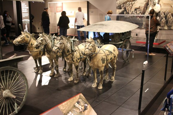 A replica of the Emperor's armored chariot. The original is made of bronze, and weighs several tons.