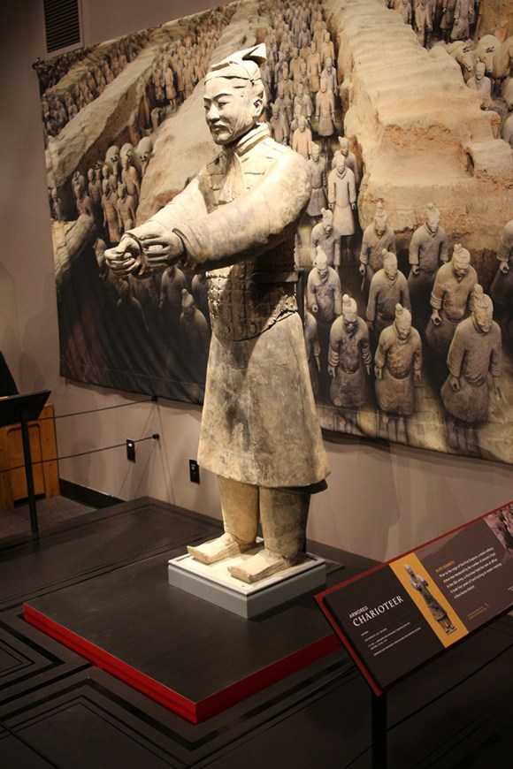 Charioteer, Terracotta Army, circa 221-206 BCE.