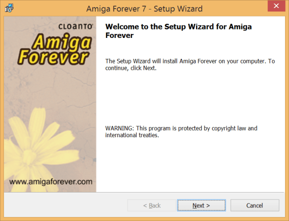 Amiga Forever 7 Install Screen