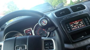 A closer look at the steering knob