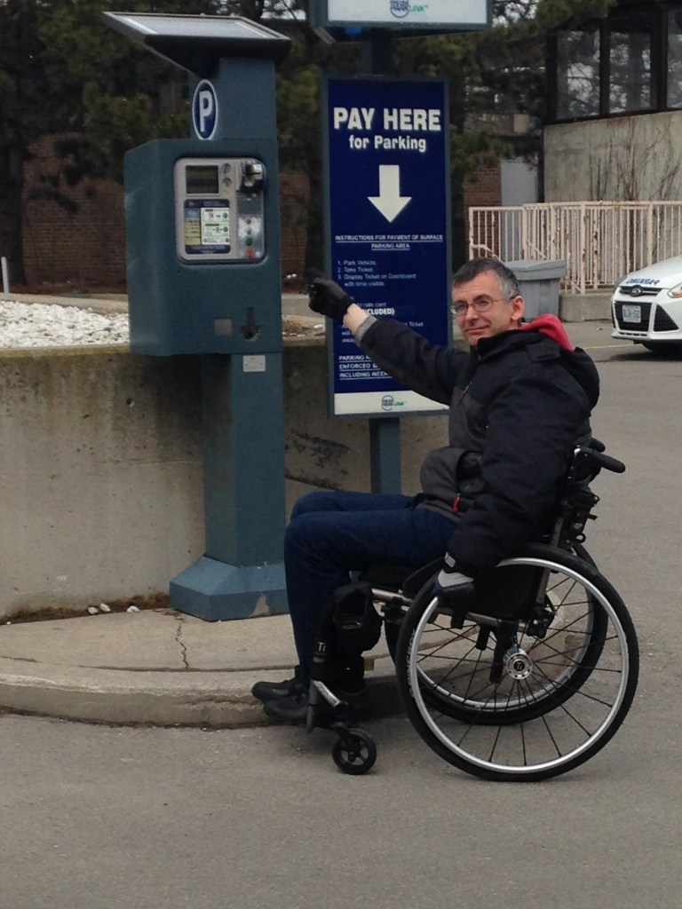 What to do when a parking pay station is unreachable from a wheelchair