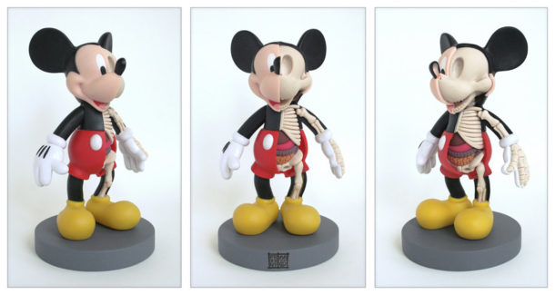 Mickey-Mouse-Anatomie-Jason-Freeny-Sculpture-Geekorner