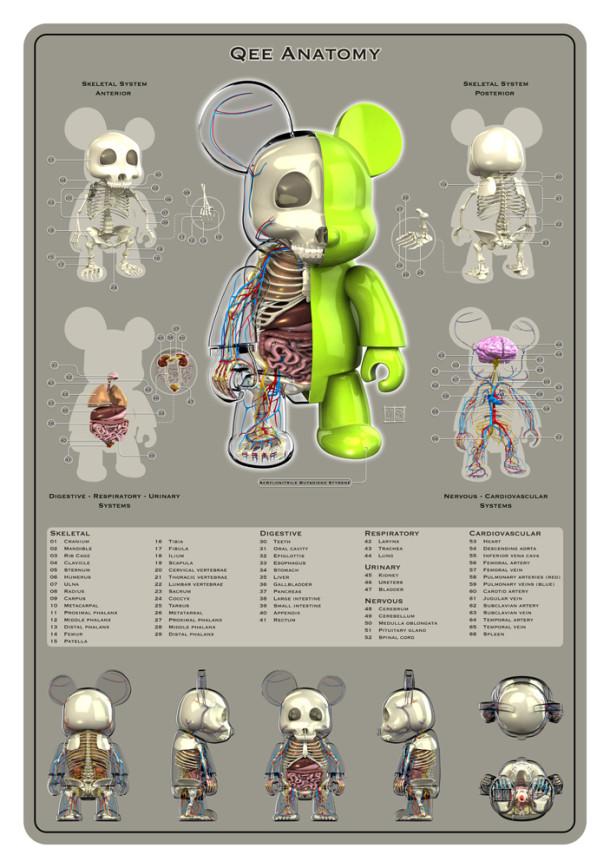 Qee-Planche-Anatomie-Jason-Freeny-Sculpture-Geekorner