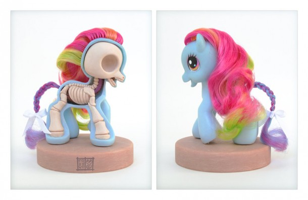 my-little-pony-petit-poney-Anatomie-Jason-Freeny-Sculpture-Geekorner