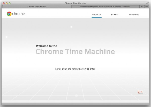 Google Chrome - Time Machine - Geekorner - 001