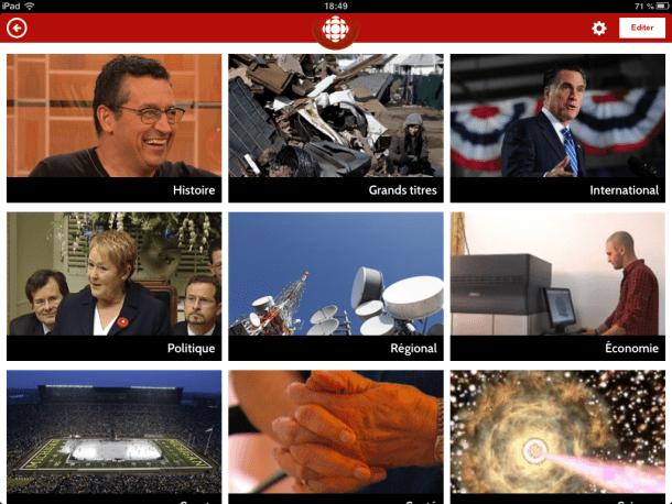 Radio-Canada pour iPad - Geekorner - 004