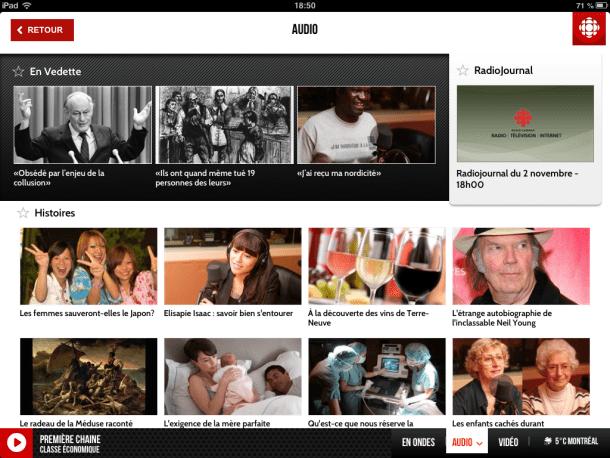 Radio-Canada pour iPad - Geekorner - 006