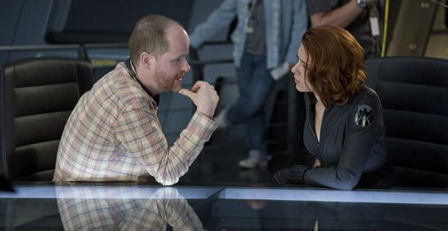 Joss-Whedon-and-Scarlett-Johansson-set-photo