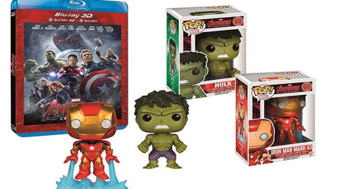 Coffret Avengers 2 avec le Blu-ray et des Funko POP!