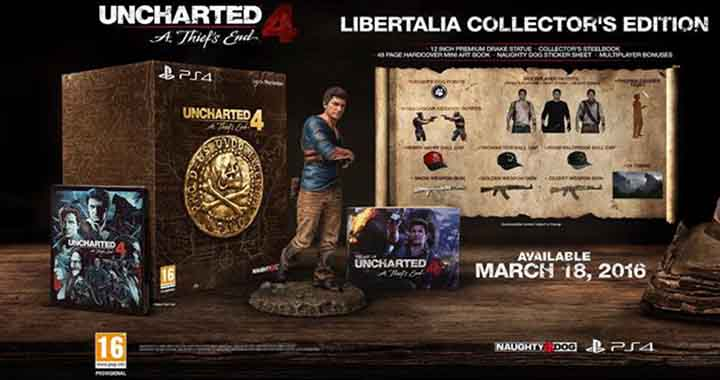 L'édition Collector Uncharted 4 : A Thief's End