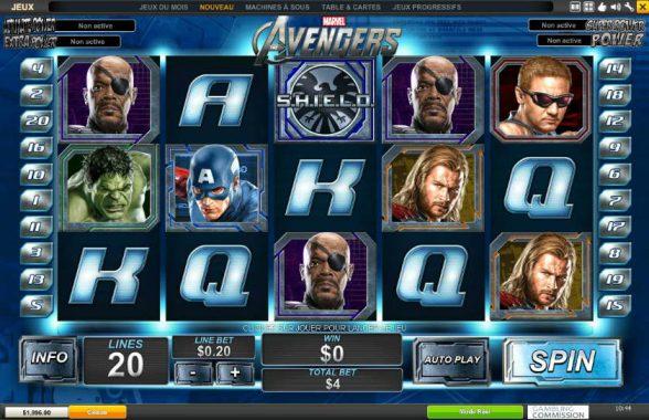 machines à sous Marvel