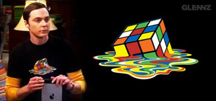 [T-shirt] Rubik's Cube de Sheldon