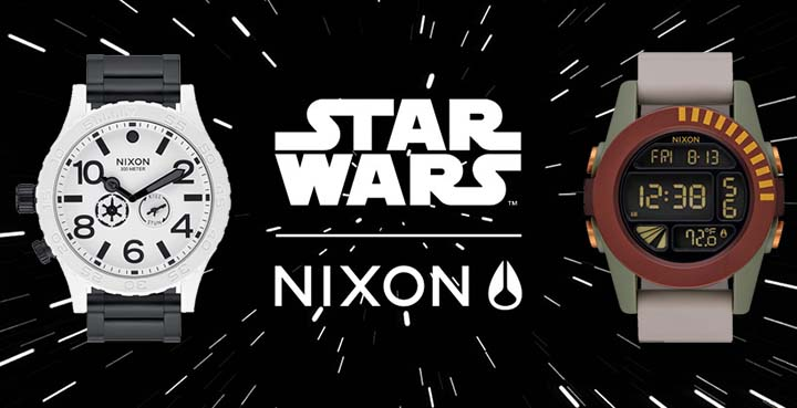 La gamme Star Wars des montres Nixon