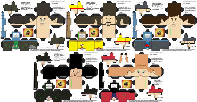 papercraft Big Bang Theory figurines (1)